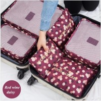Jual Traveling bag motif 6in1/pouch set/travel bag organizer Murah