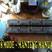 Lampu strobo Mobil Strobe polisi police 60 led 8box 8 mode| manteng