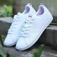 harga Sepatu Wanita Adidas Advantage Clean White Import Casual Sneakers #3 Tokopedia.com