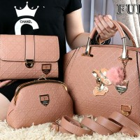 Tas Furla Luxe Mary Queen Elizabeth 3in1 NUDE Semi Ori 1718