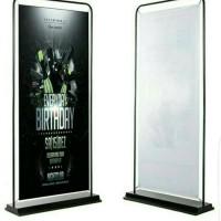 DOOR FRAME STAND/STAND BANNER BESI 1 SISI Ukuran 60X160