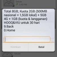 Kartu Perdana Simpati Loop 4G LTE dengan paket internet murah 8Gb=50rb