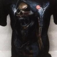 baju kaos tshirt distro tengkorak wakwaw mangap