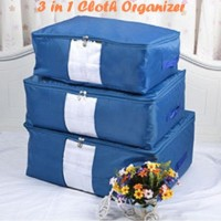 3 in 1 Cloth Organizer NAVY BLUE ( 1 set isi 3 pcs ukuran berbeda )