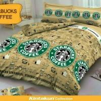 Jual Sprei Deluxe kintakun Starbucks ukuran single 120cmx200cm Murah