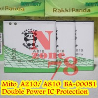 Baterai Mito A210 A810 Ba-00051 Rakkipanda Double Power Protection