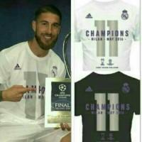 Kaos Distro bola Real Madrid La Undecima