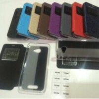 flip cover Andromax A Smartfren leather Case/Sarung HP