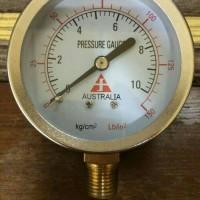 "Pressure Gauge Forbes 2,5 Inch 2,5"" ; drat 1/4"" ; 10kg Australia"