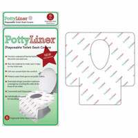 PottyLiner Disposable Toilet Seat Covers with Anti Slip - 5 Pcs
