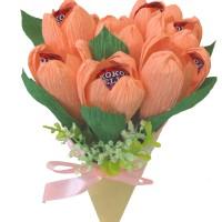 Buket bunga tulip handmade Koko jelly 8pc untuk hadiah valentine ibu