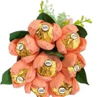 Buket Bunga tulip handmade ferrero rocher hadiah valentine hari ibu