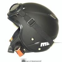 harga Helm Retro Pilot Klasik Jpn Momo Black Doff + Kacamata Tokopedia.com