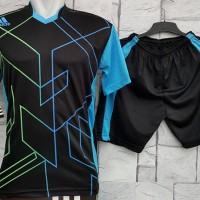 harga Baju Setelan Adidas Heksa Hitam Biru Kaos Futsal,Gym,VollyOlahraga Tokopedia.com