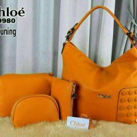 Tas Chloe 9980 Yellow - import branded semi premium