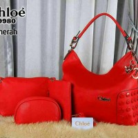 Tas Chloe 9980 Red - import branded semi premium