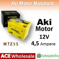 Aki 12 V 4.5 Ah MOTOBATT MTZ5S Gel kering motor TERMURAH MOTOBAT