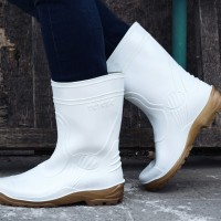 TOYOBO boots TYB 1688 sepatu boot pendek putih / kuning seragam pabrik