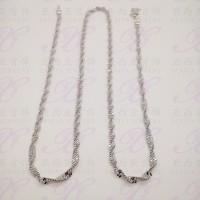 Yaxiya kalung rantai ulir silver perhiasan imitasi warna gold 18K