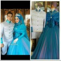 Gaun pengantin Couple/baju pengantin sepasang