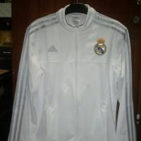 Jual Jaket Real Madrid Anthem White Official 2015-2016 Murah
