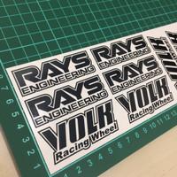 Sticker Custom Cutting Velg Racing Mobil Rays - Volk Racing Wheel