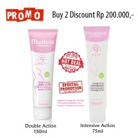 BUNDLING MUSTELA STRETCH MARKS DOUBLE + INTENSIVE ACTION CREAM 2IN1