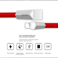 Jual Kabel Charger iPhone 5 6 7, iPad USB Lightning, Original OX Cable Murah