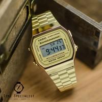 Jam Tangan CASIO A 168WG 9W / A-168WG-9W Gold Original Garansi 1th