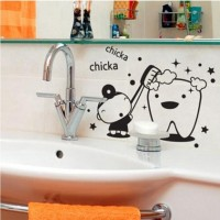 "STICKER LUCU KAMAR MANDI / CUTE STICKER FOR BATHROOM M6 ""CHIKA CHIKA"""