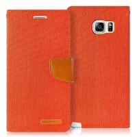 Samsung Note 5 Cover Case Canvas Diary Mercury Goospery ORANGE
