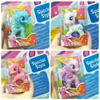 harga 4pc gift set MY LITTLE KUDA PONY Action Figure Mainan Boneka Miniatur Tokopedia.com