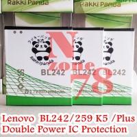 Baterai Lenovo BL242 BL-242 A6000 Lemon K3 Rakkipanda Double Power