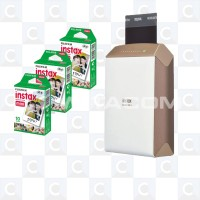 Fujifilm Instax Share Printer SP2 Gold + 3 Packages Paper Instax