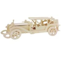 Mainan Edukatif 3d Wooden Puzzle Woodcraft Contruction Kits - Rolling