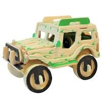 Mainan Edukatif 3d Wooden Puzzle Woodcraft Contruction Kits -JEEP MINI