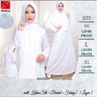 Gamis Dress Putih Bersih untuk Haji Umroh Pernikahan dll