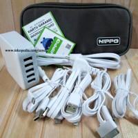 BAGUS!! Hippo Penta Charger Adaptor 5 Port BB Samsung I Berkualitas