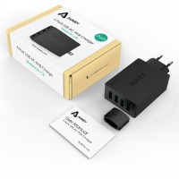 BAGUS!! Aukey, PA-U36 40w/ 8A 4 Ports USB Wall Charger Murah