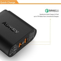 BAGUS!! Aukey USB Wall Charger 2 Port EU Plug 36W Qualc Murah