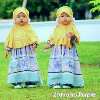 Set Gamis Jilbab Bayi/ Anak, Dress New Zahrana Maysuun Baby Kids Hijab