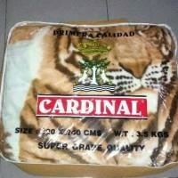 selimut cardinal size jumbo 220x240 motif macan