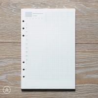 White Loose Leaf Binder Paper A5 / Isi Ulang Binder Kertas A5