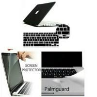 Jual 4in1 Macbook Pro 13 Unibody Hard Case, Keyboard, Palm & Screen Guard Murah