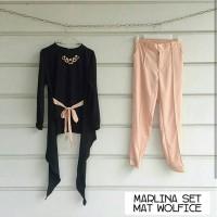 Setelan Wanita Murah / Marlina Set Black