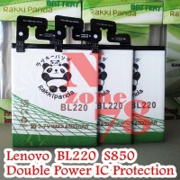 BATERAI LENOVO S850 BL220 RAKKIPANDA DOUBLE POWER PROTECTION