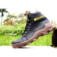 sepatu caterpillar safety boots foundation black