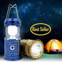 Lentera Tarik Solar Cell Senter Power Bank Lampu Emergency Camping Spy