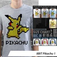 [DISKON] Kaos 8BIT Pikachu 1 - Distro Ocean Seven