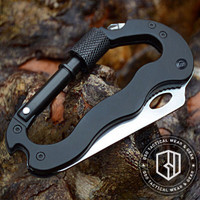Carabiner knife multifungsi tools outdoor gear